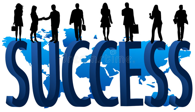 Success stock illustration