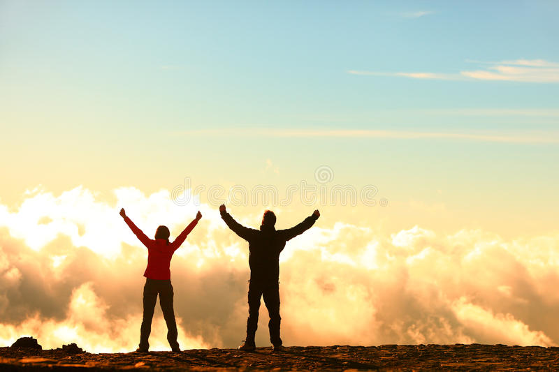 Success, achievement and accomplishment concept royalty free stock photos
