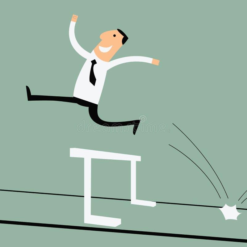 success across hurdle stock image