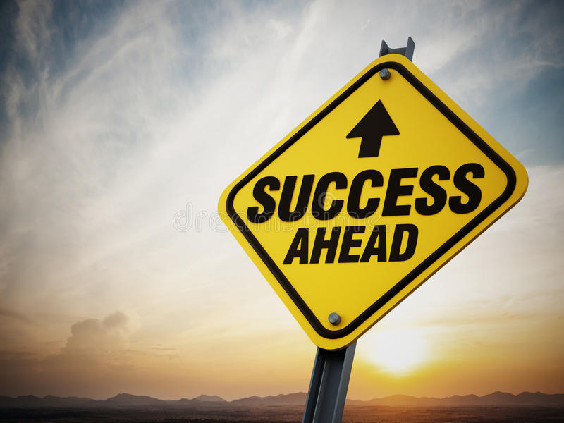Success ahead road sign royalty free stock images