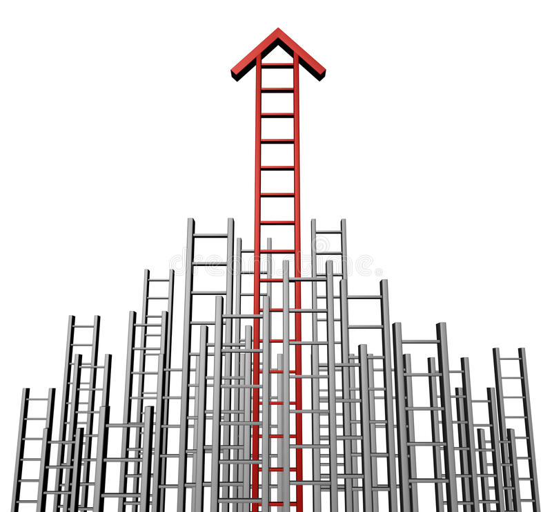 Success Arrow Ladder Royalty Free Stock Photo