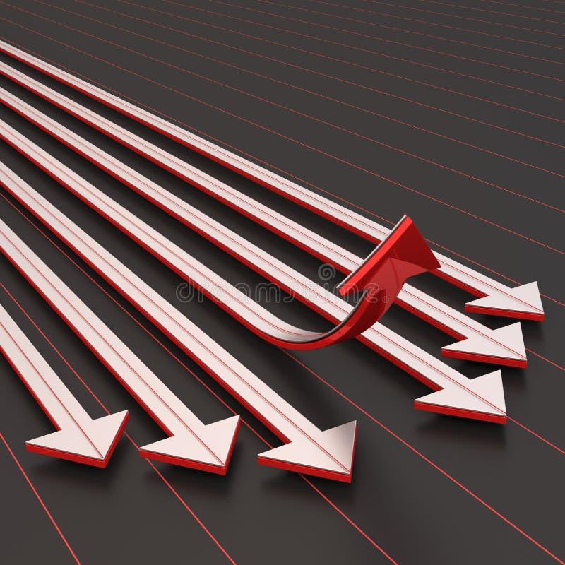 Download Success arrow upward stock illustration. Image of rendering - 42177748