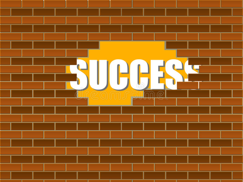 Download Success behind the wall stock vector. Illustration of destruction - 23455754