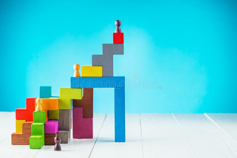 Personal development, personal and career growth, progress and potential. stock images