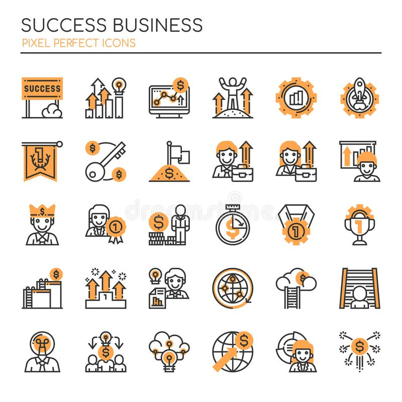 Success Business , Thin Line and Pixel Perfect Icons. Success Business element , Thin Line and Pixel Perfect Icons vector illustration