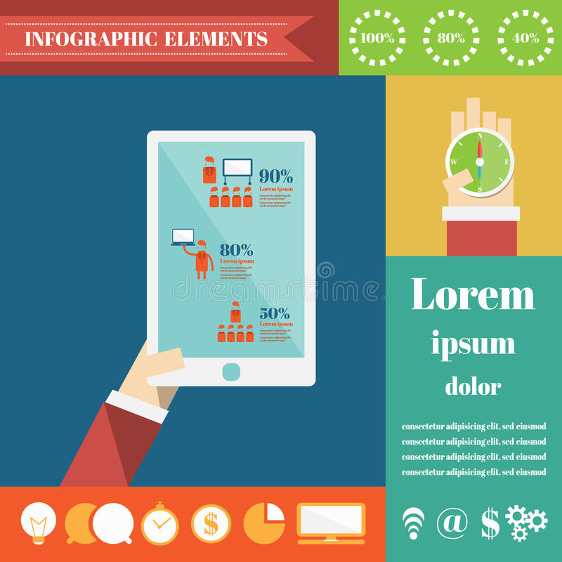Success Business. Vector Infographic Elements vector illustration