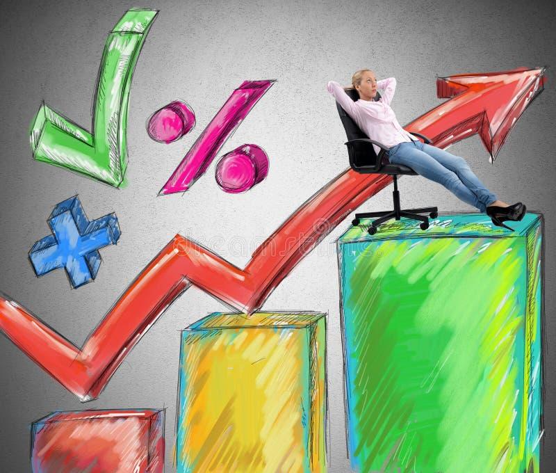Success businesswoman stock illustration