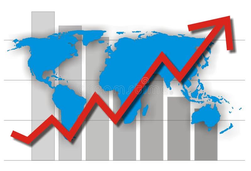 Success chart. Ial illustration isolated on white stock illustration