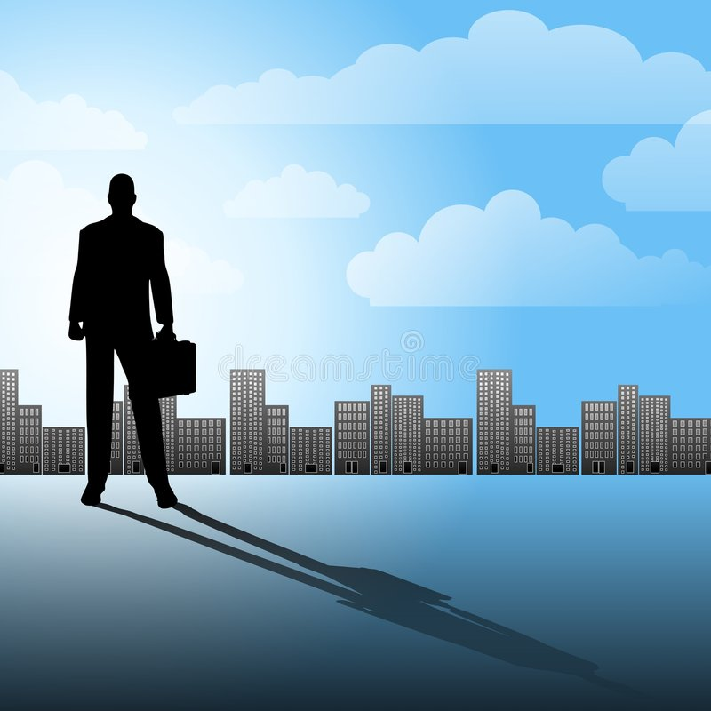 Success In The City stock illustration
