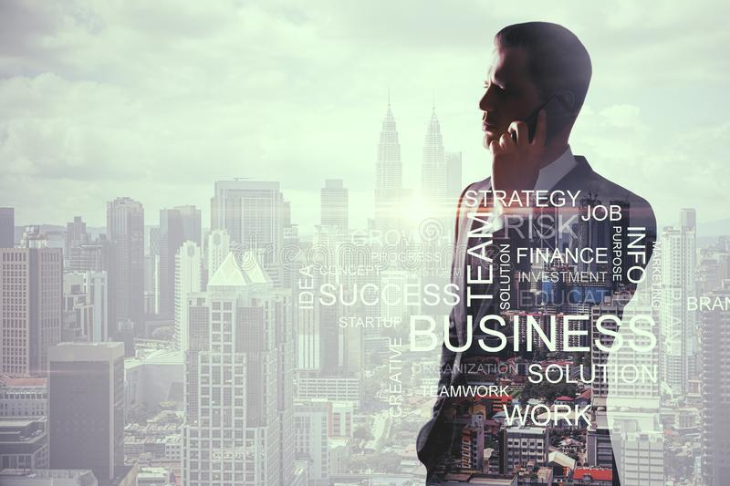 Success and communication concept royalty free stock photos