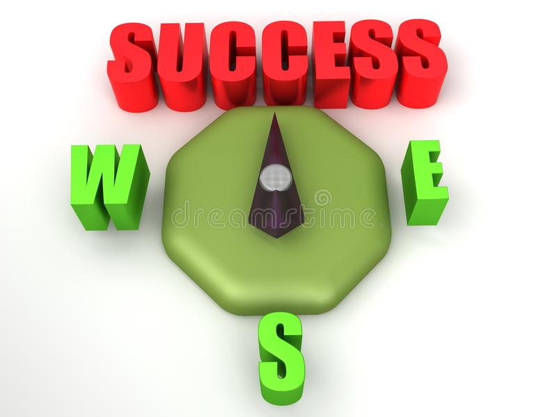 Success Compass Royalty Free Stock Images