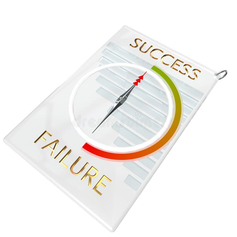 Download Success Compass Keyfob stock illustration. Illustration of graph - 25418838