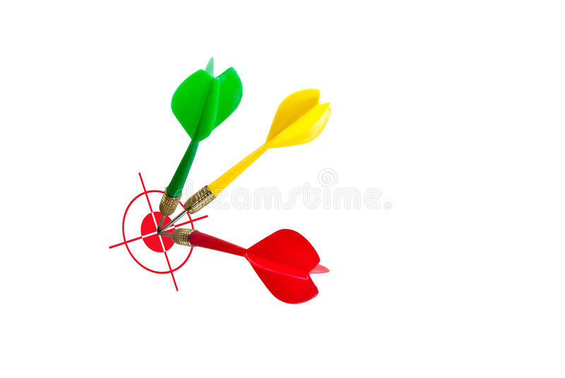 Success concept. Success target, dart on the target, successful and focus concept royalty free stock photo