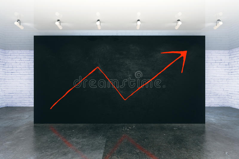 Success concept with arrow sketch royalty free illustration