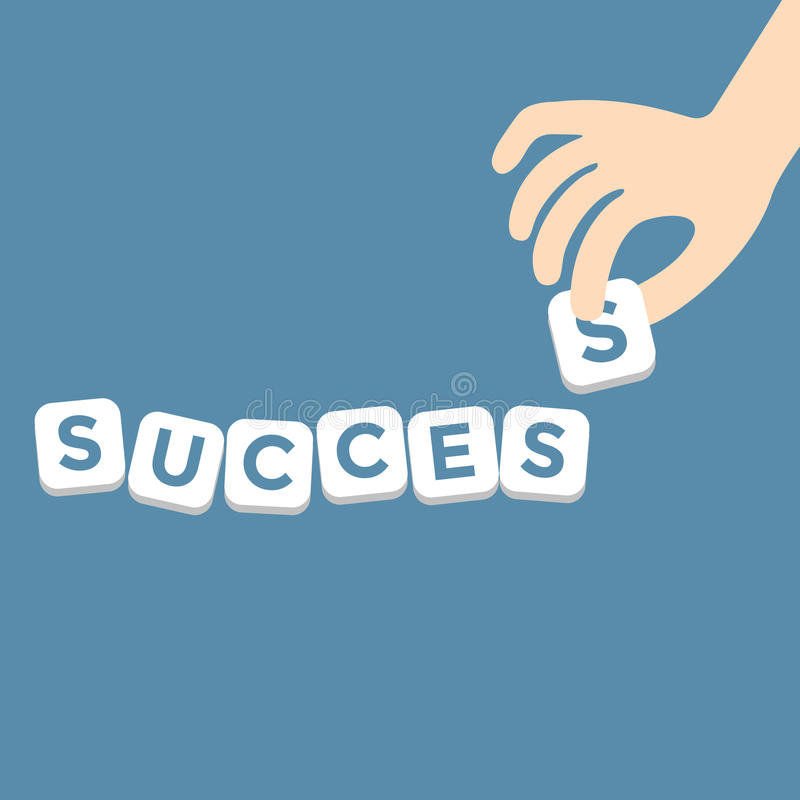 Success concept with the final piece alphabe vector illustration