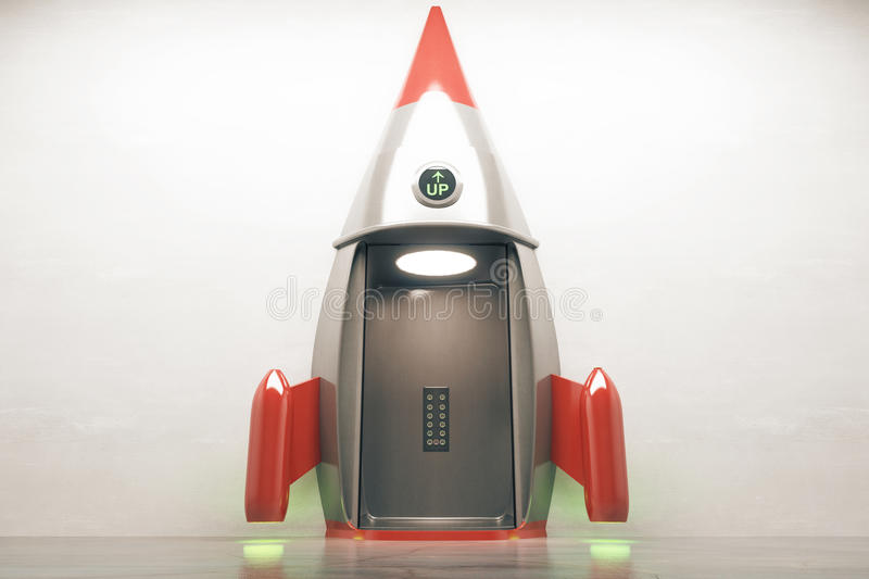 Success concept open rocket vector illustration