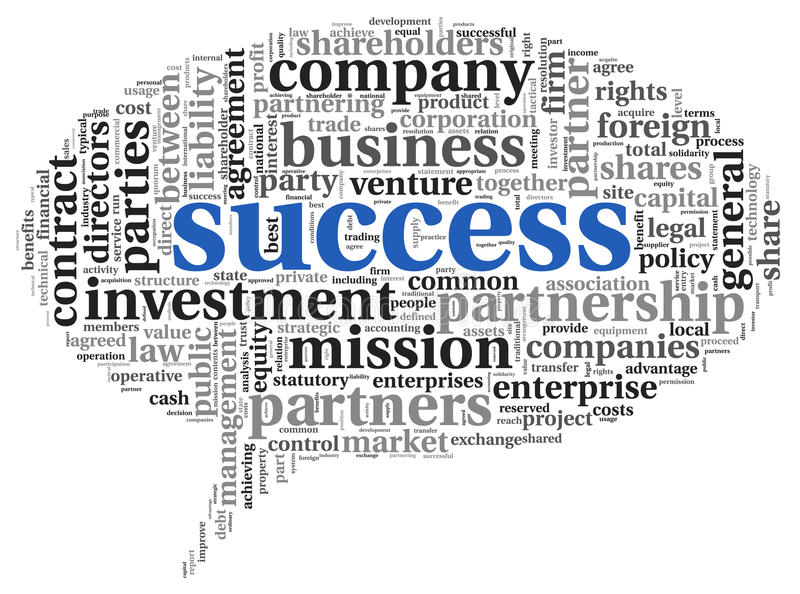 Success concept in tag cloud vector illustration