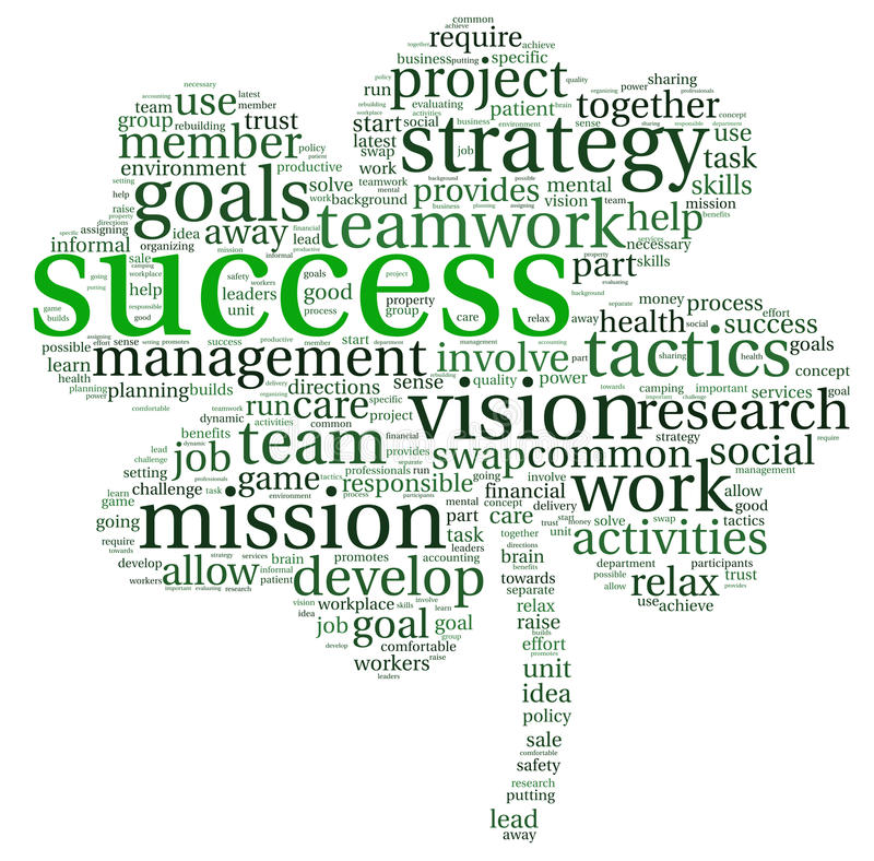 Success concept in tag cloud royalty free illustration