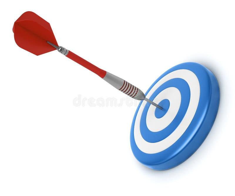 Success. Concept. Target with dart arrow hitting center target royalty free illustration