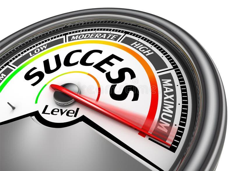 Success conceptual meter indicate maximum vector illustration