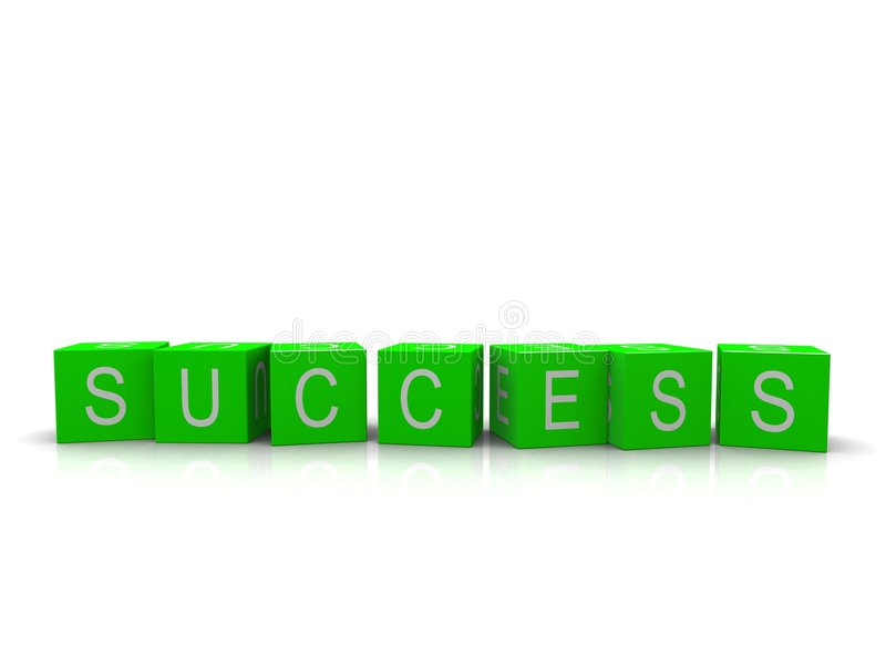 Success cube royalty free illustration