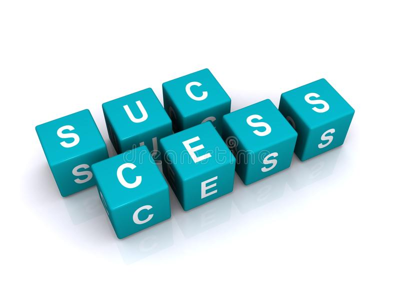 Download Success Cubes stock illustration. Image of dimension - 23344600