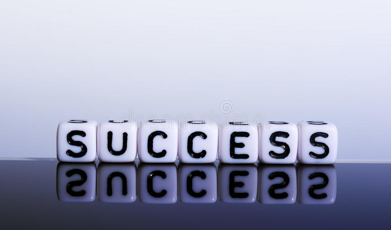 Success cubes royalty free stock photos