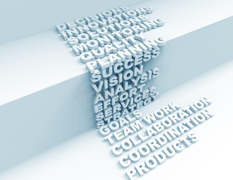 Success 3d word concept stock illustration