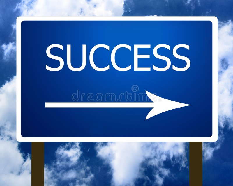 Download Success Direction Road Street Sign And The Sky Stock Photo - Image: 5657694