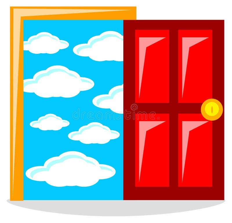 Success door. Illustration of cartoon success door vector illustration