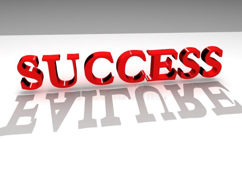 Success-failure stock illustration