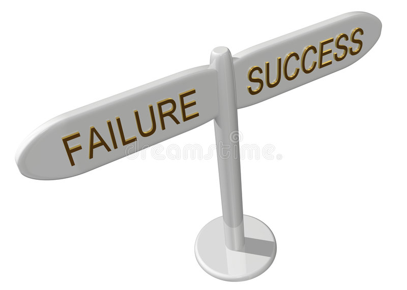 Success or failure. On a white background royalty free illustration