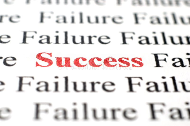 Success among failure stock photography