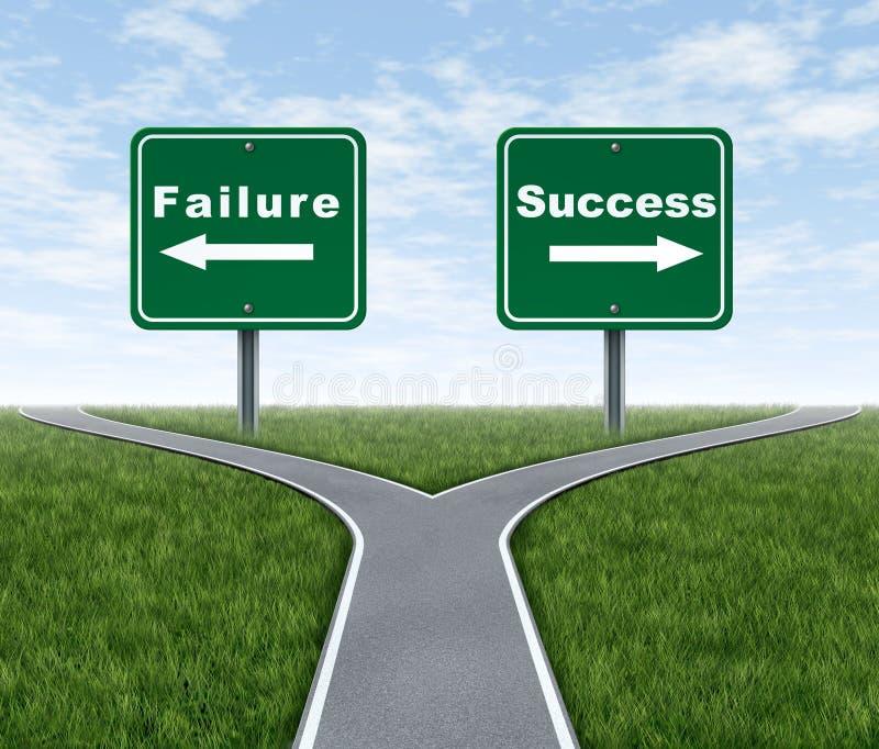 Success and failure stock illustration
