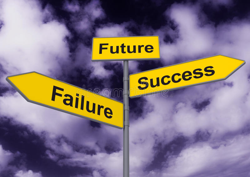 Success And Failure Signpost Royalty Free Stock Photo