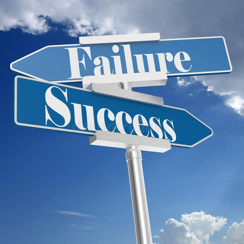 Success or Failure signs vector illustration