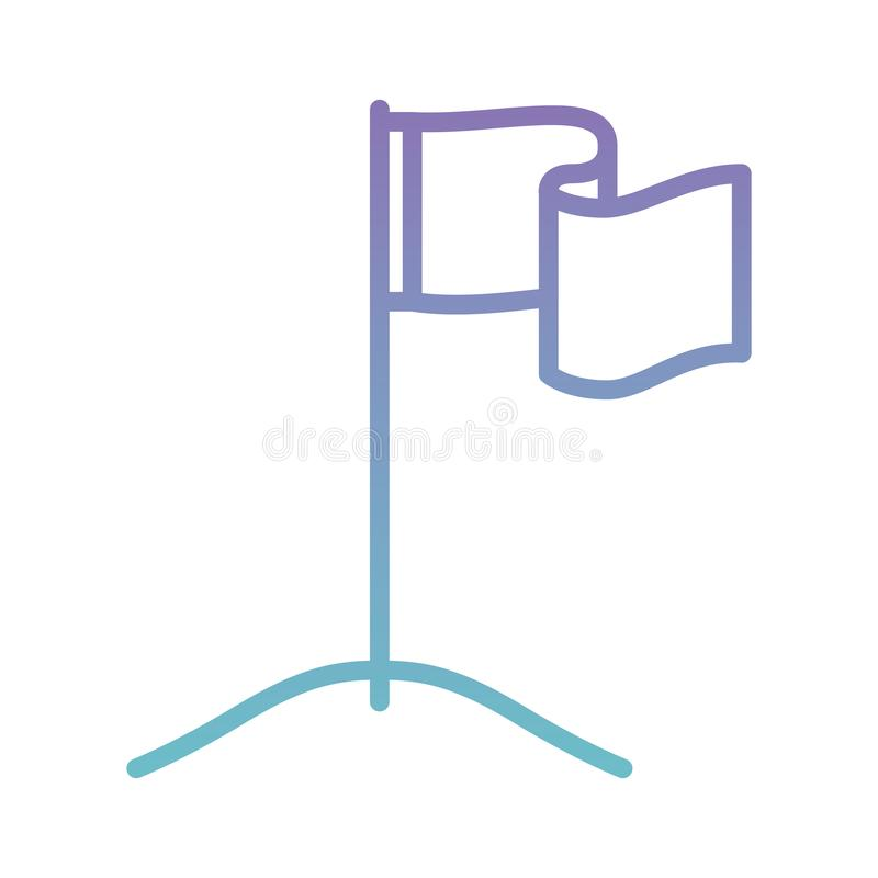 Success flag in the abyss. Vector illustration design royalty free illustration