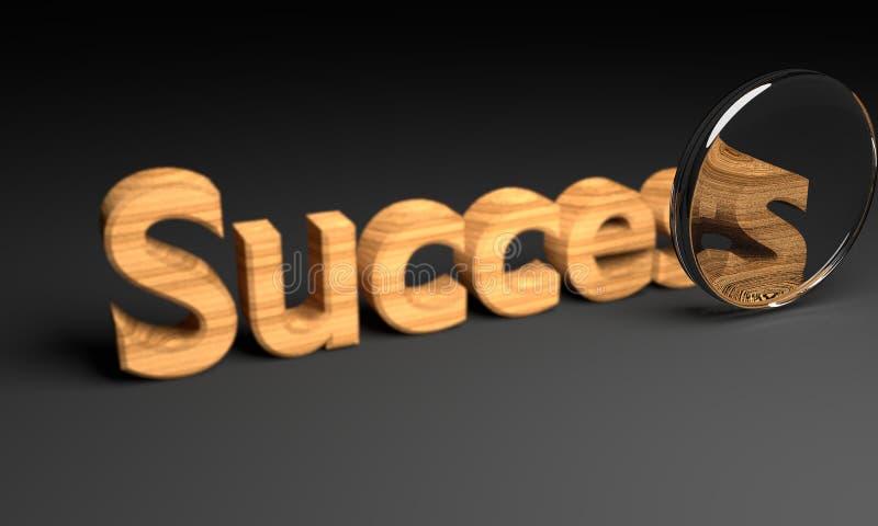 Success focused text. 3D rendering stock illustration