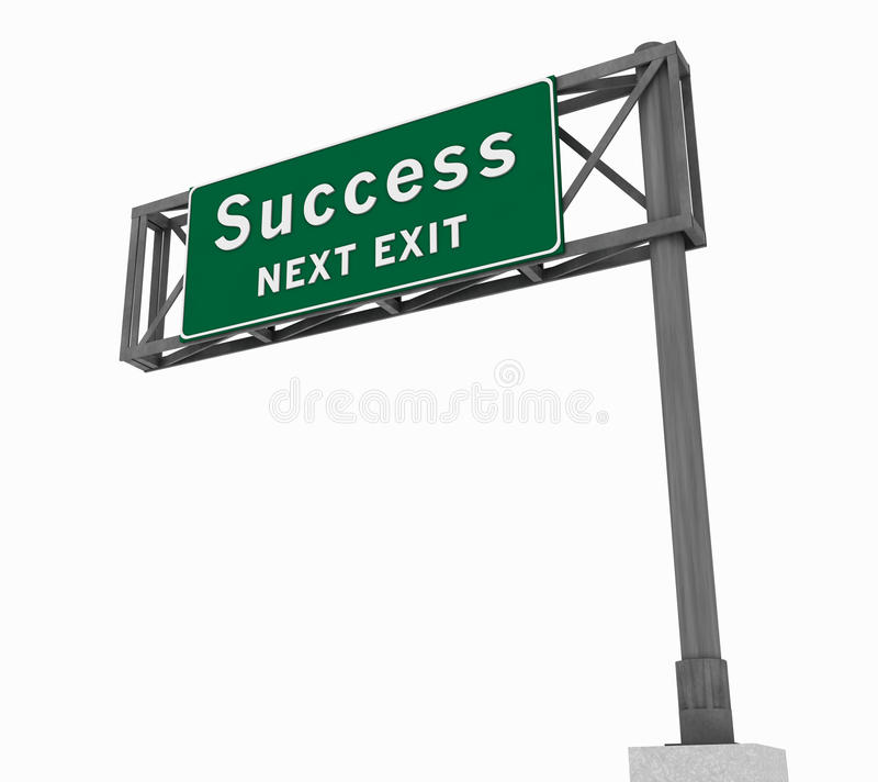 Success Freeway Sign royalty free stock photography
