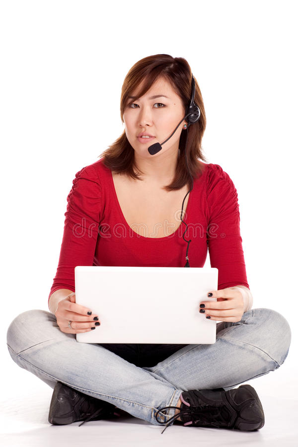 Success Girl On A Laptop Stock Image