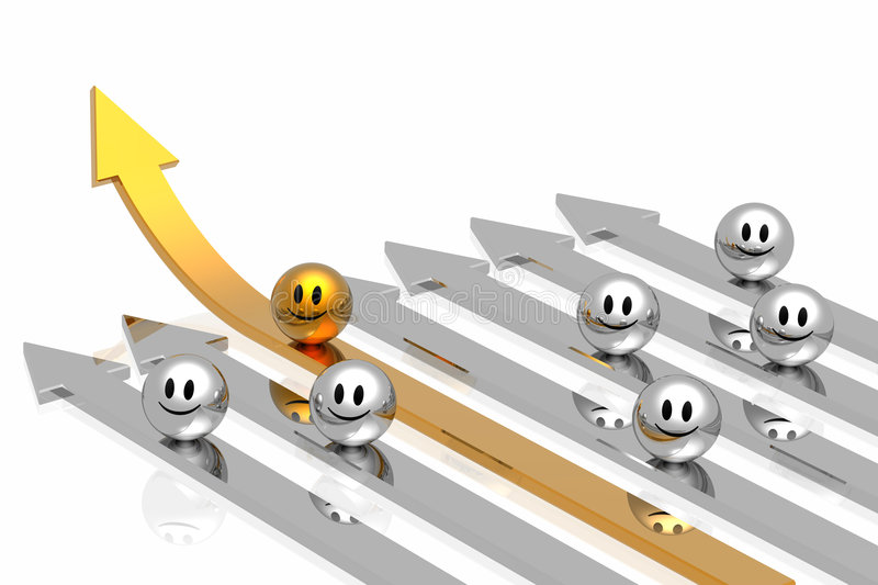 Download Success Golden Arrow With Leadership Stock Illustration - Image: 9103772