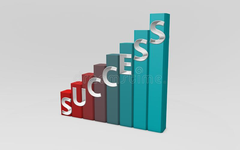 Success Graph royalty free stock images