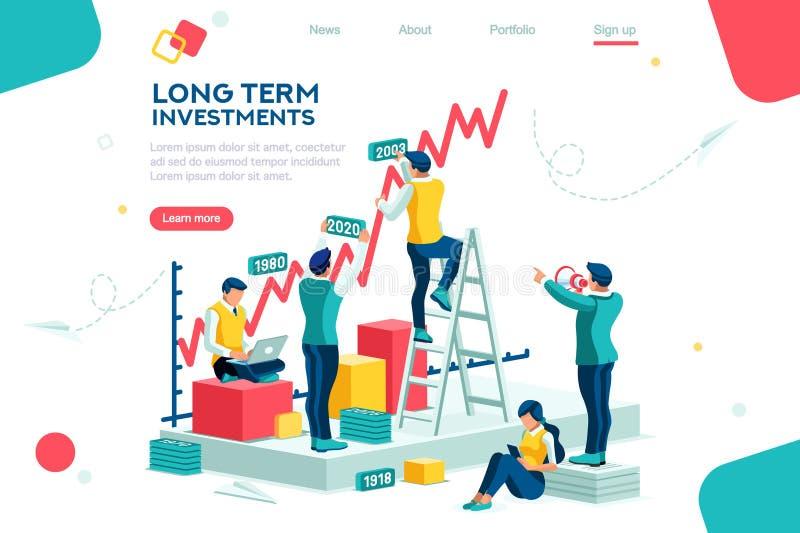 Success Growth Joint Market Progress Concept stock illustration