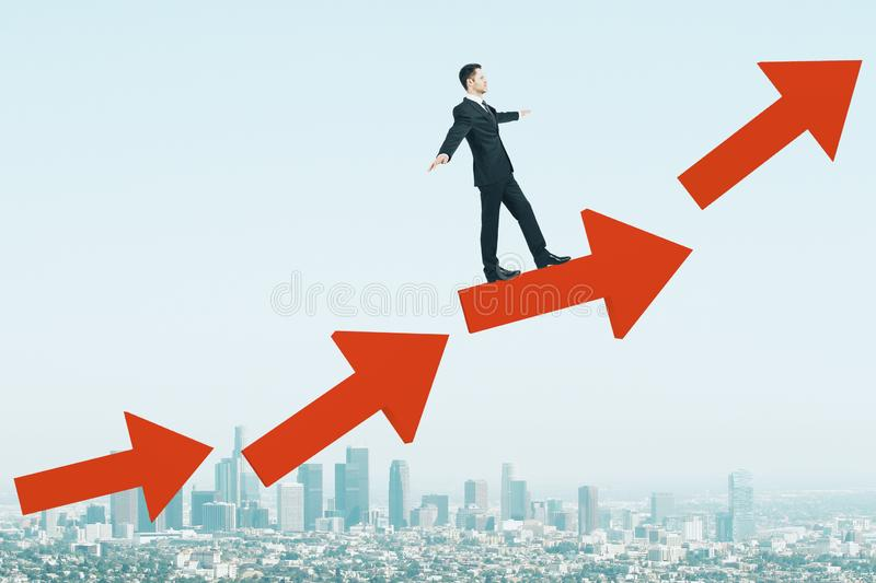 Success, growth and economy concept stock photos