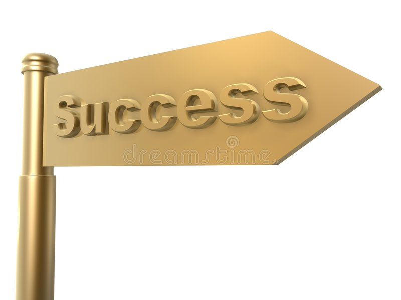 Success guide royalty free illustration
