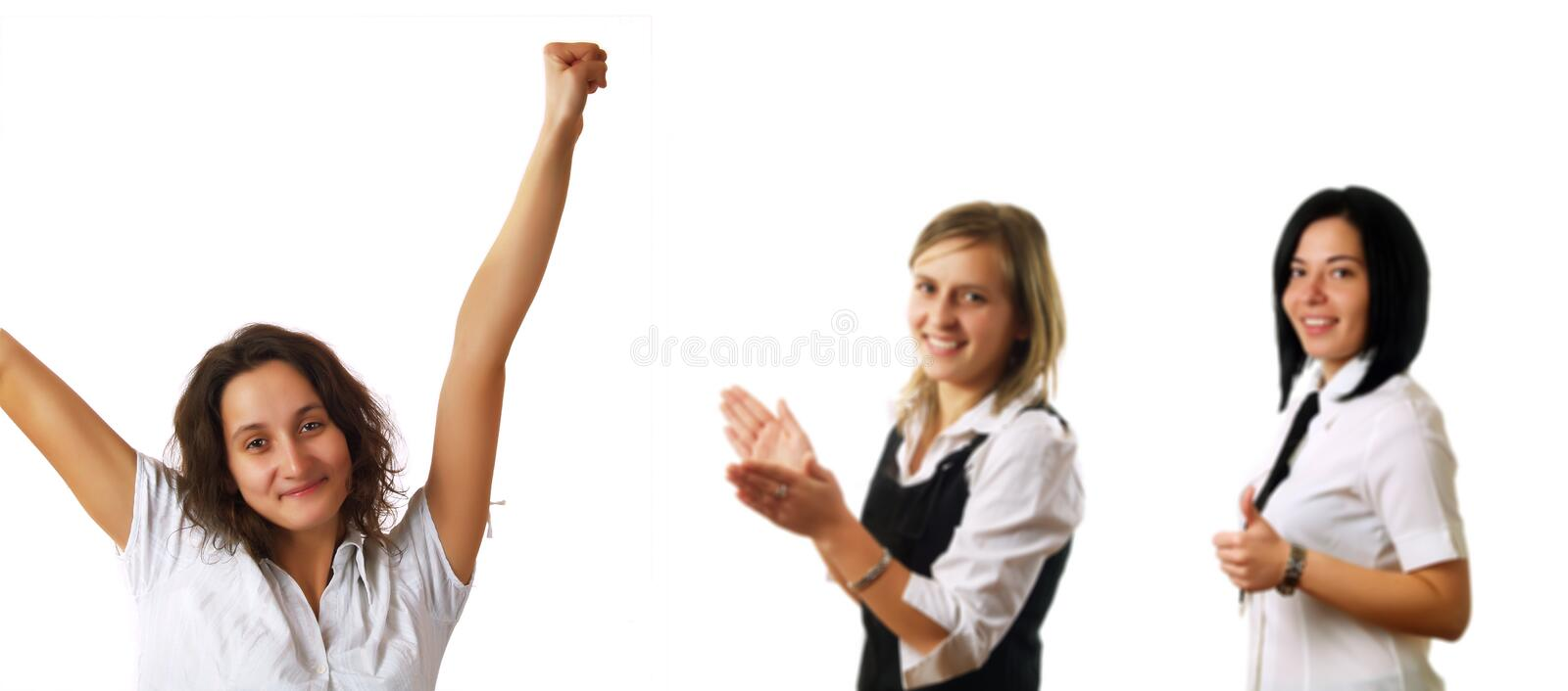 Success And Happiness At Work Stock Photos