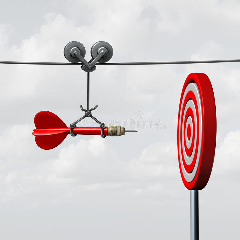 Free Success Hitting Target Royalty Free Stock Photography - 64046017