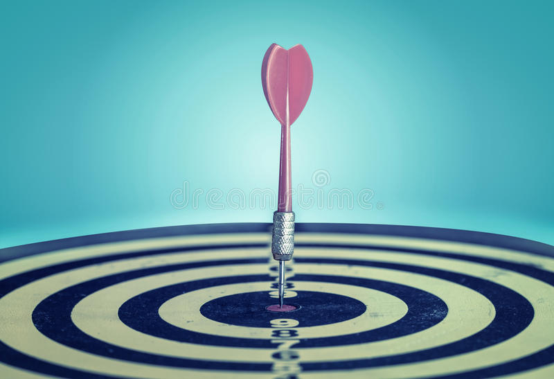 Success hitting target aim goal achievement. royalty free stock photography