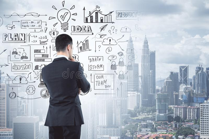 Success and idea concept stock photography