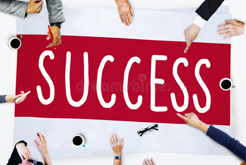 Success Improvement Celebration Winning Excellence Concept royalty free stock image